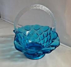 Mosser Glass Colonial Blue Elizabeth Basket - $24.99