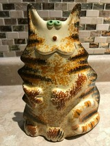 Vintage 70's Ceramic Clay Cat Figurine Made in Portugal Handmade 8 Inch ... - $86.85