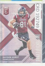 2018 Panini Elite Draft RC Hayden Hurst TE Gamecocks #118 192749 - $1.86