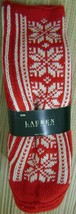 RALPH LAUREN WOMEN'S HAND KNIT HOLIDAY BOOTIES RED & BLACK/WHITE S/M ACR... - $49.90