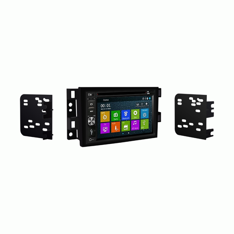 DVD GPS Navigation Multimedia Bluetooth Radio and Dash Kit for Pontiac G3 2009