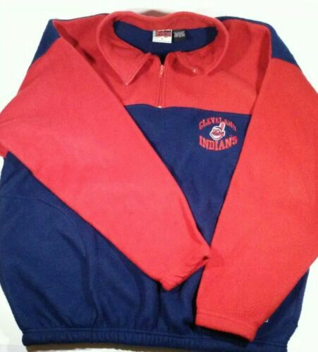 Primary image for Cleveland Indians Sz M Sweatshirt Blue Red VTG 1996 Genuine MLB Baseball Sweater