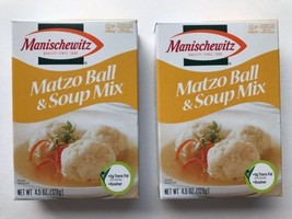 Manischewitz Matzo Ball & Soup Mix Lot of 2 Best By 11/21/2018 Kosher Pa... - $14.97