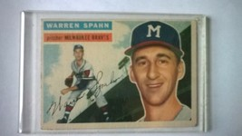 1956 Topps #10 Warren Spahn Milwaukee Braves card - $39.60