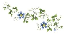 Large Clematis Flower Vine Wall Stencil SKU #1483 by Designer Stencils - $50.00