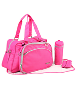 Stylish Fashionable Multifunction Mom Mothers Baby Diaper Bag Pink My Mi... - $56.42