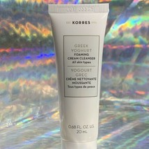 Korres Greek Yoghurt Foaming Cream Cleanser New Sealed 20ml/.68oz