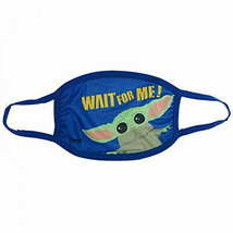 Star Wars The Mandalorian The Child Youth Sized Fabric Face Mask Blue - $9.98