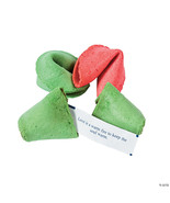 christmas holiday fortune cookies group of 50 pieces red, green, etc. sh... - $24.99