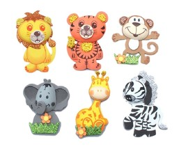 "12 (6 Styles) Foam Jungle Animals 5"" Tall Baby Shower Birthday Noah's Ark Theme - $15.83"