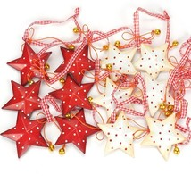 Christmas Tree Decorations For Home 6/12pcs Vintage Metal Star With Smal... - $17.09