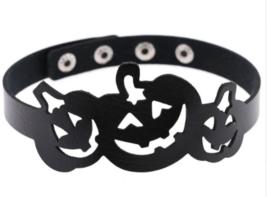 Halloween Pumpkin Jack O Lantern Choker Costume Cosplay Collar Black Nec... - £11.96 GBP