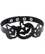 Halloween Pumpkin Jack O Lantern Choker Costume Cosplay Collar Black Nec... - $15.38