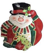 Fitz and Floyd Snowman Ceramic Cookie Plate - $14.99