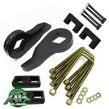 "Fits 88-99 Chevy GMC K1500 3"" + 1.5"" Blocks Full Steel Lift Kit Shock Ex... - $199.99"