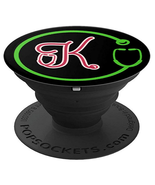 Monogram K with Stethoscope - Doctors Nurses Veterinarians - PopSockets ... - $15.00