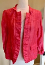 Chicos Blazer Lightweight Dress Jacket Linen Fits Like Small Size 0 Wome... - $15.99