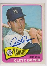 Clete Boyer (d. 2007) Signed Autographed 1965 Topps Baseball Card - New ... - $29.99