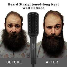 Beard Straightener, MASWATER - Second Generation Beard Straightening Brush with  image 3