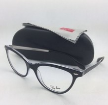 New RAY-BAN Rx-able Eyeglasses RB 5360 2034 52-18 Black on Clear CatEye Frames