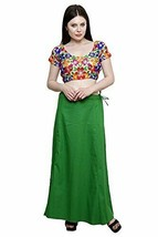 Underskirt Women Pure Cotton Petticoat Any Saree Sari & Dress Color Size... - $18.99