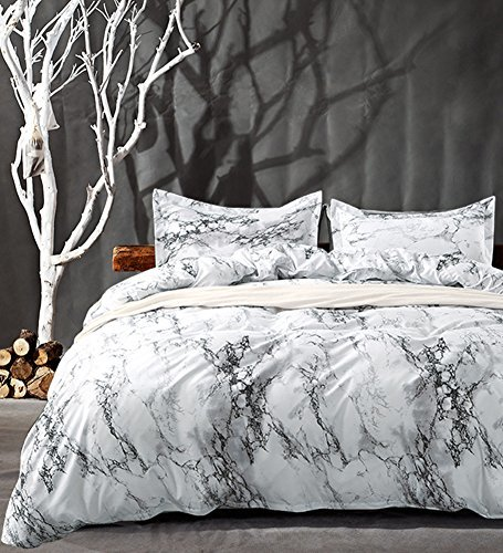 nanko duvet cover set marble 2 1000 tc luxury hypoallergenic micro duvet covers