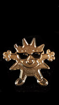 face with star Metal Enamel Badge Lapel /tie Pin Badge 3d effect with clip