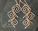 Handmade copper earrings three wire wrapped square spirals 2 1 thumb155 crop