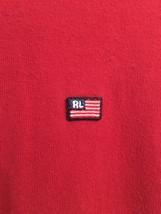 Vintage Polo Jeans co Ralph Lauren men's SPELLOUT longsleeve shirt size L red - $14.99