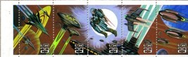 1993 SPACE FANTASY #2745a Booklet Pane of 5 x 29 cents US Postage Stamps - $9.92
