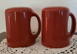 "Stove Top ~ Extra Large ~ Handled Salt & Pepper Set ~ Rust Color ~ 3.25""... - $16.00"