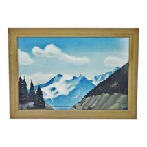 Vintage Rustic Framed Mountain Landscape Pastel Drawing - Artist Signed - $395.00