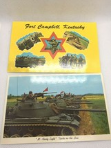 Fort Campbell Kentucky U.S. Army Postcards M-48 Tanks Curt Teich - $8.86