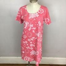 Fresh Produce Allue T Shirt Dress Pink Floral Small B1 - $33.38