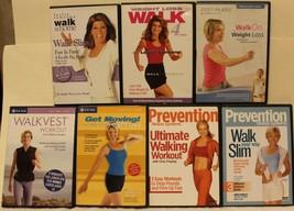 7 walking workout DVD lot Leslie Sansone weight loss fast firm walk slim on - $23.74
