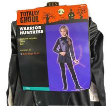 Girls Costume Warrior Huntress Black X Large 12/14 Youth Renaissance $40V - $29.69