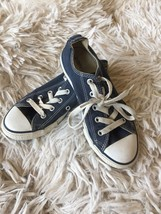 Converse Low Top Blue All Star Sneakers Shoes Youth Girls 1 - $12.99