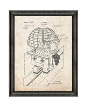 Robot Ride Patent Print Old Look with Black Wood Frame - $24.95+