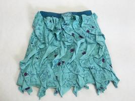 Naartjie 7 Forest Friends Aqua Turquoise Vertical Waterfall Ruffle Skirt... - $17.99
