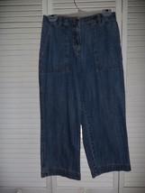 JONES SPORT denim blue cropped jeans sz 4 - $5.53