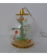 Vintage Moving Christmas Ornament Inside Tree Clear Gold Plastic See Thr... - $16.82