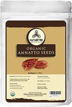 Naturevibe Botanicals Organic Annatto Seeds, 10 ounces | Non-GMO and Gluten Free