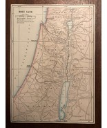 """Vintage Color Map of the HOLY LAND Israel Print Plate 5.75"""" x 8"""" Unframed - $14.00"""