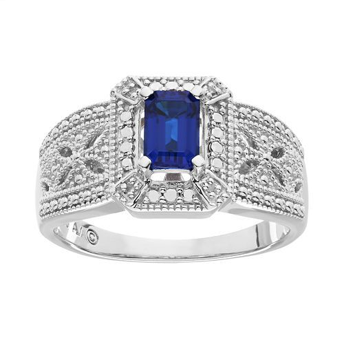 Primary image for Blue Tanzanite Emerald Cut Womens Valentine Gift Ring In Solid 14k White Gold