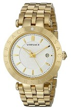 Versace VQP050015 V-race Gold IP Stainless Steel Men's Watch - $2,577.84