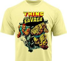 Thing Doc Savage Dri Fit graphic Tshirt moisture wicking superhero comic SPF tee image 1