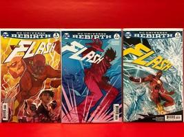 The Flash #1-3 Rebirth 1st full appearance of Godspeed #2 & 3 Cover B Va... - $17.99