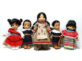 Precious Moments Native American Indians Izusa, Yamka, Amitola & White F... - $24.19