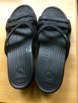 Crocs Womens Sandals Black  Size 11 Slides New w/o box - $16.00