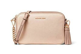 Michael Kors Medium Leather Camera Crossbody Bag (Soft Pink/Fawn) - $178.00